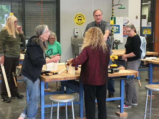First Intro To Woodworking Class Proves Very Popular Vashon Tool